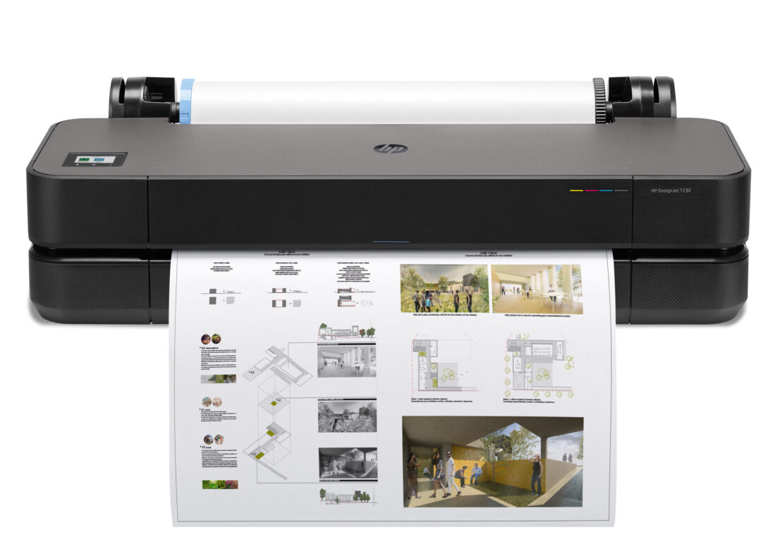 HP DesignJet T230 24in Front 05 no base