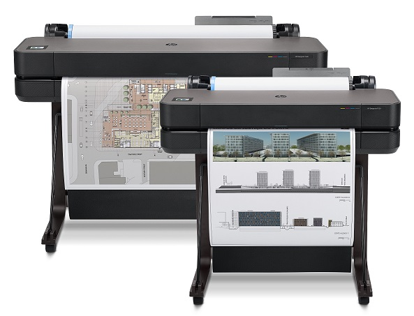 HP DesignJet T630 36 and 24 in Front plot 02